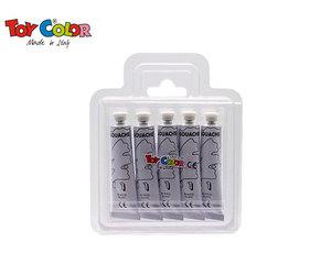 TOY COLOR ΤΕΜΠΕΡΑ 12ml WHITE 5 ΤΕΜ