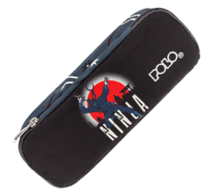Polo Κασετίνα Οβάλ Troller Pencil Case Duo 71 Ninja