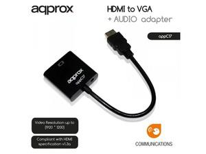 APPROX ΑΝΤΑΠΤΟΡΑΣ HDMI to VGA + AUDIO