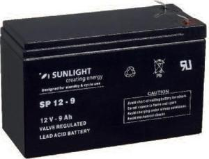 SUNLIGHT BATTERY 12V - 9A (6.3 FASTON)